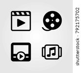 technology vector icons set.... | Shutterstock .eps vector #792175702