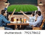 victory  group of young... | Shutterstock . vector #792178612
