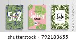 set of three different sale... | Shutterstock .eps vector #792183655