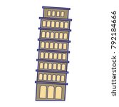 full color leaning tower of...   Shutterstock .eps vector #792184666