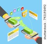 peer to peer payments design... | Shutterstock .eps vector #792193492