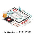 isometric composition with... | Shutterstock .eps vector #792193522