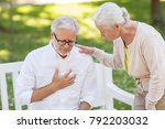 old age  health problem and... | Shutterstock . vector #792203032