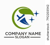 cleaning and maintenance logo... | Shutterstock .eps vector #792203542