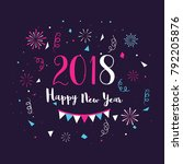 happy new year celebration... | Shutterstock .eps vector #792205876