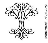 vector celtic national drawing... | Shutterstock .eps vector #792219892