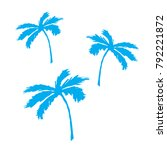 tropical palm tree. flat style... | Shutterstock .eps vector #792221872