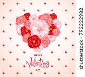 happy valentines day background.... | Shutterstock .eps vector #792222982
