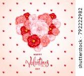 happy valentines day background.... | Shutterstock .eps vector #792222982