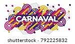 carnaval modern background...   Shutterstock .eps vector #792225832