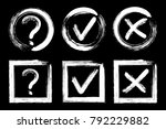 tick and cross test signs set ... | Shutterstock .eps vector #792229882