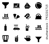 origami style icon set   funnel ... | Shutterstock .eps vector #792231715