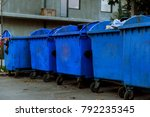 Plastic Garbage Containers On...
