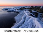 ice winter in the baltic sea.... | Shutterstock . vector #792238255