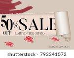 sale advertisement banner on... | Shutterstock .eps vector #792241072