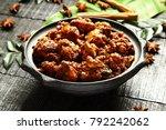 homemade indian chicken roast... | Shutterstock . vector #792242062