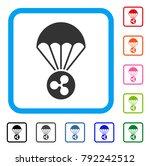 ripple parachute icon. flat...