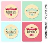 vector valentine's logo design | Shutterstock .eps vector #792245698