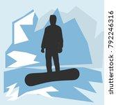 vector snowboarder in the... | Shutterstock .eps vector #792246316