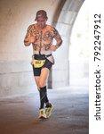 new york   jul 16 2017  athlete ... | Shutterstock . vector #792247912