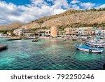 mondello   palermo  sicily ... | Shutterstock . vector #792250246