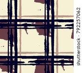 plaid. seamless grunge pattern... | Shutterstock .eps vector #792257062