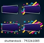 abstract geometric blue colored ... | Shutterstock .eps vector #792261085