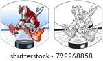 vector cartoon clip art... | Shutterstock .eps vector #792268858
