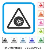cardano danger icon. flat gray... | Shutterstock .eps vector #792269926