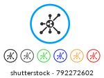 ripple node rounded icon. style ... | Shutterstock .eps vector #792272602