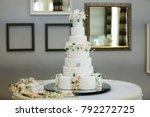 a wedding cake wedding cake...   Shutterstock . vector #792272725