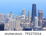 chicago skyline aerial view  ... | Shutterstock . vector #792273316