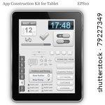 app construction kit for tablet ... | Shutterstock .eps vector #79227349