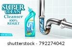 vector drain pipe cleaner ad...   Shutterstock .eps vector #792274042