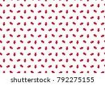 heart pattern. seamless vector... | Shutterstock .eps vector #792275155