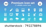 electronic icons. set of 21... | Shutterstock .eps vector #792278896