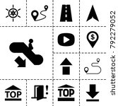 navigation icons. set of 13... | Shutterstock .eps vector #792279052