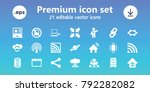 network icons. set of 21... | Shutterstock .eps vector #792282082