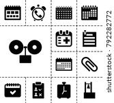 reminder icons. set of 13... | Shutterstock .eps vector #792282772