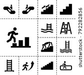 staircase icons. set of 13...   Shutterstock .eps vector #792282856