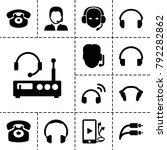 headphone icons. set of 13... | Shutterstock .eps vector #792282862