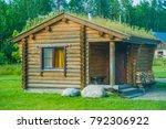beautiful natural wood house... | Shutterstock . vector #792306922
