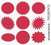 starburst speech bubbles set ... | Shutterstock .eps vector #792307972