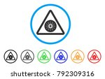 cardano danger rounded icon.... | Shutterstock .eps vector #792309316