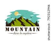 mountain explorer adventure...   Shutterstock .eps vector #792312946
