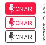 podcast radio icon buttons set. ... | Shutterstock .eps vector #792316438
