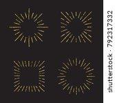 sunburst gold glitter hand... | Shutterstock .eps vector #792317332