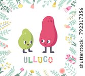 cute cartoon ulluco... | Shutterstock .eps vector #792317356