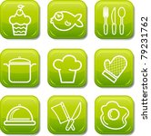 food icon buttons glossy set   Shutterstock .eps vector #79231762