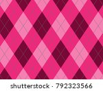 pink argyle background | Shutterstock .eps vector #792323566